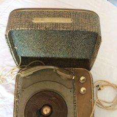 Gramófonos y gramolas: ANTIGUO TOCADISCOS DE WALD, VINTAGE, AÑOS 1950/60. Lote 209044313