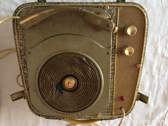 Gramófonos y gramolas: Antiguo tocadiscos De Wald, Vintage, años 1950/60 - Foto 12 - 209044313