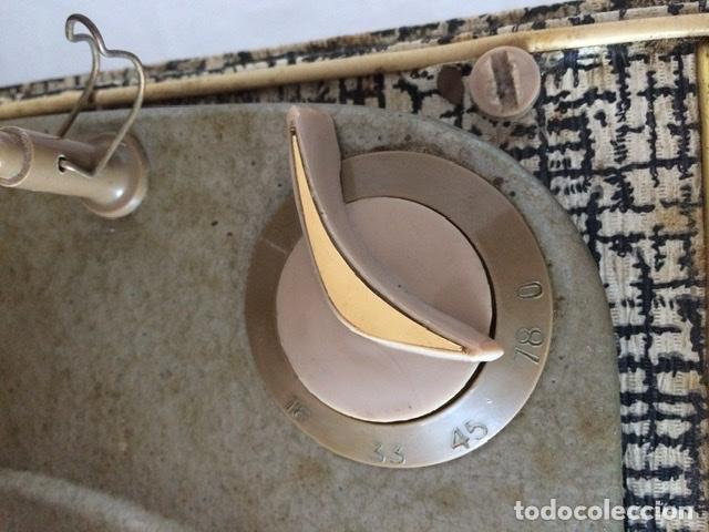 Gramófonos y gramolas: Antiguo tocadiscos De Wald, Vintage, años 1950/60 - Foto 19 - 209044313