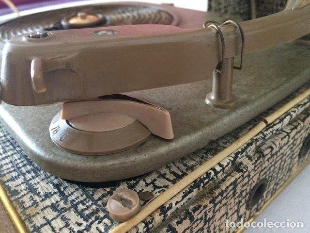 Gramófonos y gramolas: Antiguo tocadiscos De Wald, Vintage, años 1950/60 - Foto 21 - 209044313
