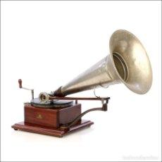 Gramófonos y gramolas: ANTIGUO GRAMÓFONO BERLINER. MODELO 3. EXTRAORDINARIO. FUNCIONANDO. FRANCIA, CIRCA 1895.. Lote 210662799