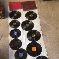 Gramófonos y gramolas: LOTE 12 DISCOS DE PIEDRA,PARA GRAMOLA!. Lote 210796859