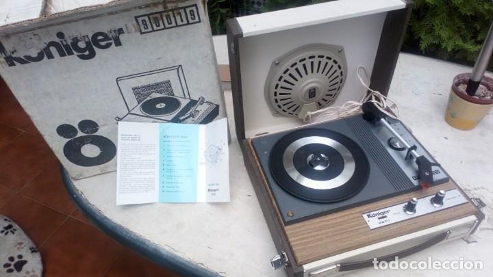 TOCADISCOS KÖNIGER 2001 CON SU EMBALAJE AUTÉNTICO Y MANUAL (Radios, Gramófonos, Grabadoras y Otros - Gramófonos y Gramolas)