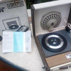 Gramófonos y gramolas: TOCADISCOS KÖNIGER 2001 CON SU EMBALAJE AUTÉNTICO Y MANUAL. Lote 212538221