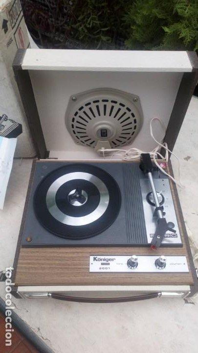 Gramófonos y gramolas: Tocadiscos Königer 2001 con su embalaje auténtico y Manual - Foto 2 - 212538221