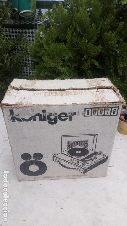Gramófonos y gramolas: Tocadiscos Königer 2001 con su embalaje auténtico y Manual - Foto 3 - 212538221