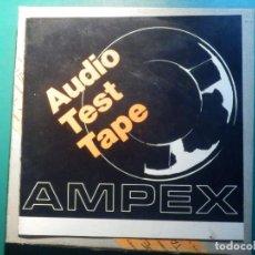 Gramófonos y gramolas: AMPEX TEST TAPE - 35 MICRO SEGUNDOS - CINTA ALINEACIÓN AZIMUT CABEZALES MAGNETÓFONOS REEL TO. Lote 214270736