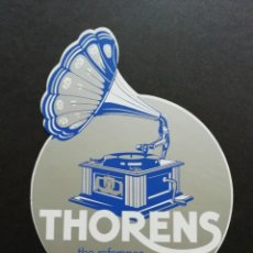 Gramofones e jukeboxes: THORENS - PEGATINA - STICKER. Lote 214641112
