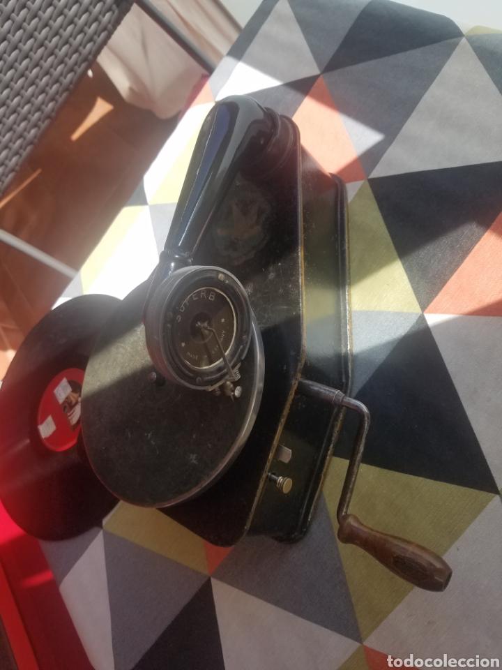 Gramófonos y gramolas: Antiguo Gramofono pequeño BINGOLA 1920.GRAMOPHONE - Foto 5 - 215087916