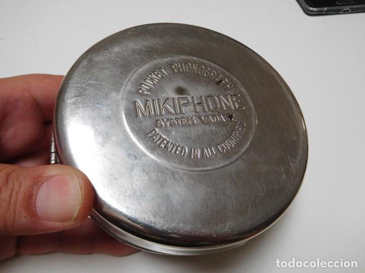 POCKET PHONOGRAPH MIKIPHONE FONÓGRAFO DE BOLSILLO ANTIGUO (Radios, Gramófonos, Grabadoras y Otros - Gramófonos y Gramolas)