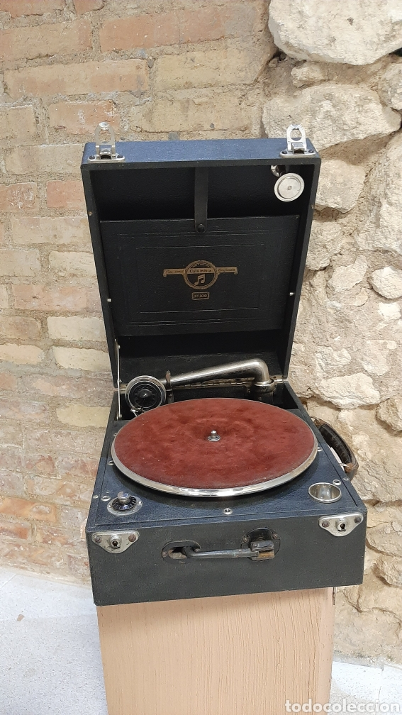 ANTIGUO TOCA DISCOS MANIVELA COLUMBIA GRAFONOLA MADE EN ENGLAND N 109 FUNCION ÑA (Radios, Gramófonos, Grabadoras y Otros - Gramófonos y Gramolas)