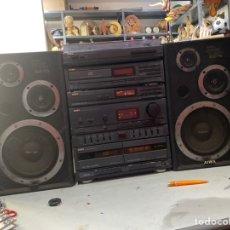 Gramófonos y gramolas: EQUIPO HI-FI AIWA CON ALTAVOCES SX-75 EN ESPAÑA. Lote 218894101
