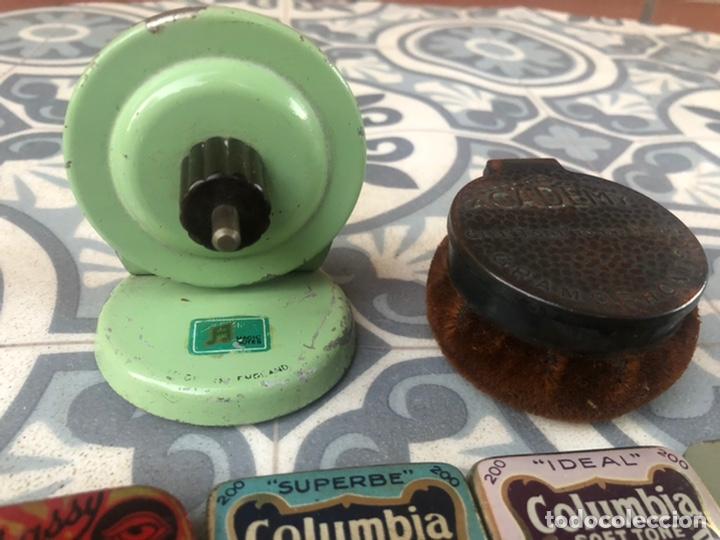 Gramófonos y gramolas: Lote 37 cajas latas de aguja gramófono. Más poniendo USMO - Foto 6 - 220627996