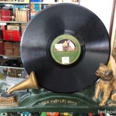 Gramófonos y gramolas: ANTIGUO EXPOSITOR PARA DISCOS DE PIZARRA LA VOZ DE SU AMO VICTOR HIS MASTERS WOKS FABRICADO EN YESO. Lote 221248018