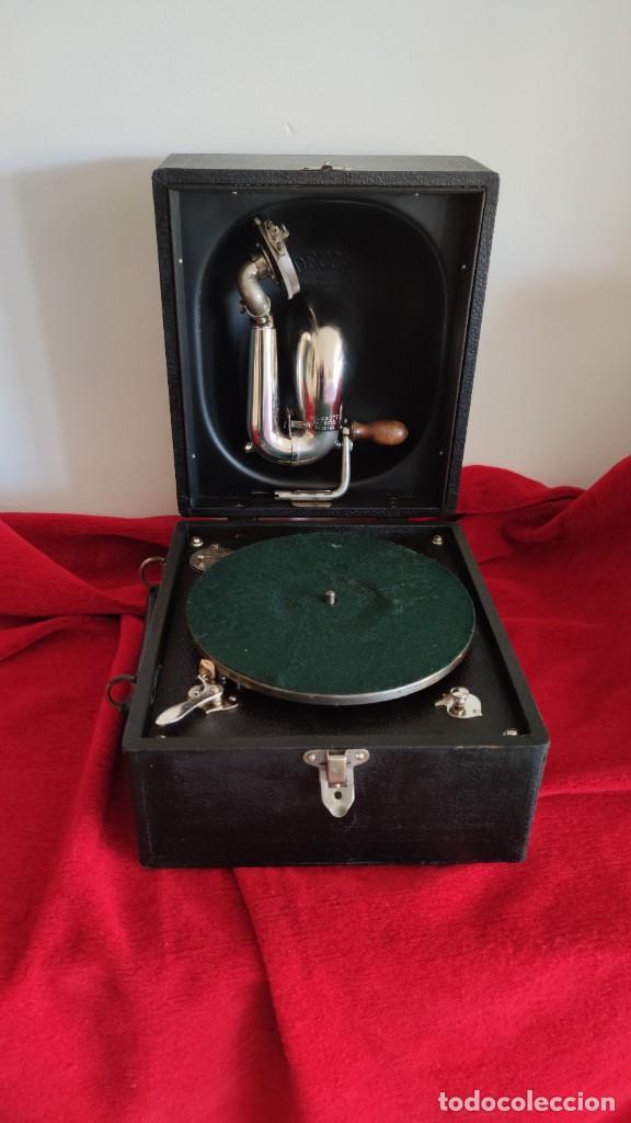 GRAMOFONO DECCA JUNIOR DE 1924/28, IMPECABLE Y FUNCIONANDO CON GRAN SONIDO (VIDEO) (Radios, Gramófonos, Grabadoras y Otros - Gramófonos y Gramolas)