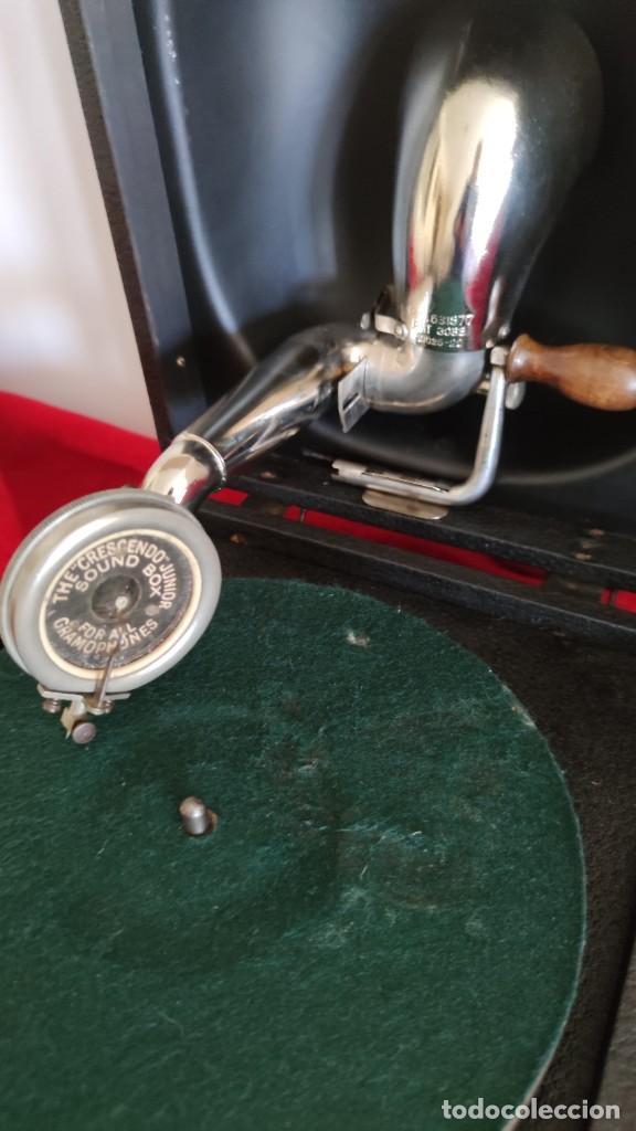 Gramófonos y gramolas: GRAMOFONO DECCA JUNIOR DE 1924/28, IMPECABLE Y FUNCIONANDO CON GRAN SONIDO (VIDEO) - Foto 2 - 222012665