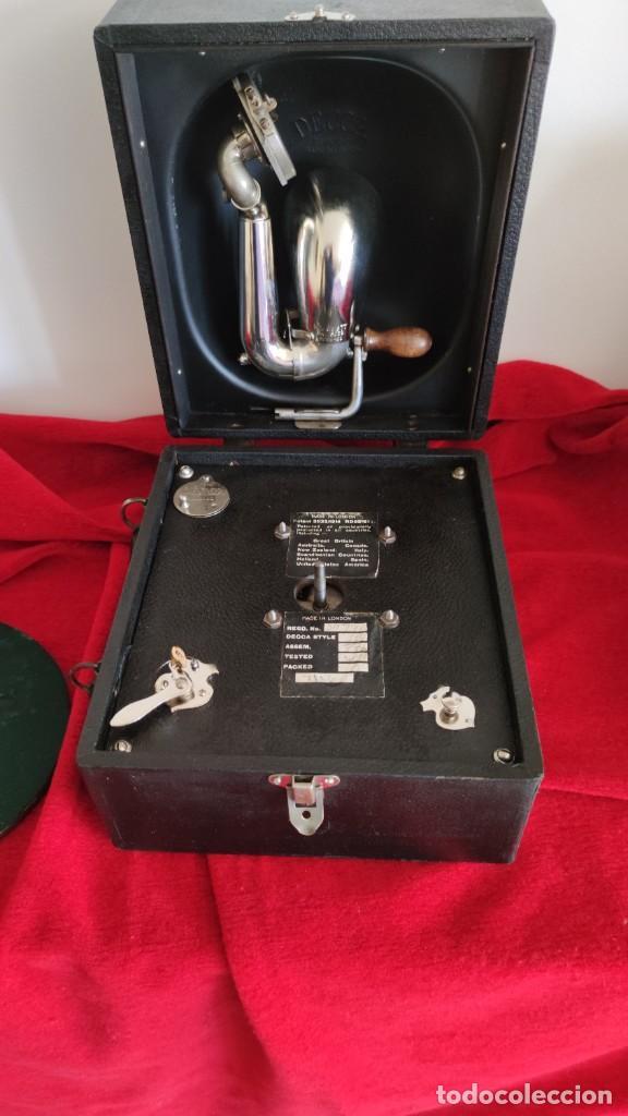 Gramófonos y gramolas: GRAMOFONO DECCA JUNIOR DE 1924/28, IMPECABLE Y FUNCIONANDO CON GRAN SONIDO (VIDEO) - Foto 6 - 222012665