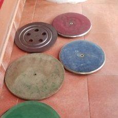 Gramofones e jukeboxes: 5 ANTIGUOS PLATOS DE GRAMOFONO. Lote 222155198