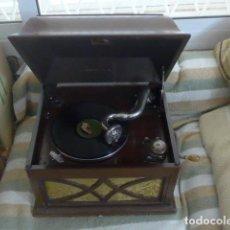 Gramófonos y gramolas: * ANTIGUO GRAMOFONO LA VOZ DE SU AMO, ORIGINAL Y FUNCIONANDO. ZX. Lote 222615150