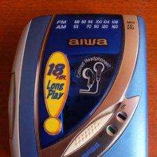 Gramófonos y gramolas: WALKMAN RADIO REPRODUCTOR CASETE AIWA SUPER BASS TA213. Lote 222649846