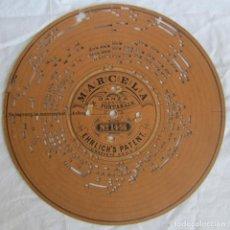 Gramófonos y gramolas: DISCO DE CARTÓN PARA ORGANILLO MANUAL ARISTON, FINALES SIGLO XIX. MARCELA, DANZA V. FONTANALS. Lote 222705328