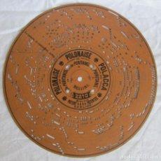Gramófonos y gramolas: DISCO DE CARTÓN PARA ORGANILLO MANUAL ARISTON, FINALES SIGLO XIX. LOS PURITAINS DE BELLINI. Lote 222705420