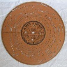 Gramófonos y gramolas: DISCO DE CARTÓN PARA ORGANILLO MANUAL ARISTON, FINALES SIGLO XIX. J.L. BACIO DER KUSS VALZER. Lote 222705568
