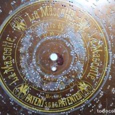 Gramófonos y gramolas: DISCO METAL PARA CAJA DE MUSICA-ORGANILLO SYMPHONION-POLIPHON-DIAMETRO 24 CM---------LA MASCOTTE---. Lote 223024573