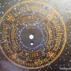 Gramophones: DISCO METAL PARA CAJA DE MUSICA-ORGANILLO SYMPHONION-POLIPHON-DIAMETRO 24 CM------LA JOTA ARAGONESA. Lote 223025643