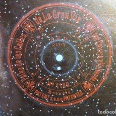 Grammofoni e gramolas: DISCO METAL PARA CAJA DE MUSICA-ORGANILLO SYMPHONION-POLIPHON-DIAMETRO 24 CM---LA GRAN VIA---. Lote 223025798