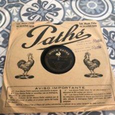 Gramófonos y gramolas: DISCO PATHE LA TEJEDORA DE NANDUTY/EL CARRETERO GRAMÓLA GRAMÓFONO RADIO USMO. Lote 224074396