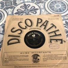 Gramófonos y gramolas: DISCO PATHE EL BOLLITERO/EL IRRESISTIBLE GRAMÓFONO GRAMÓLA RADIO USMO. Lote 224074917
