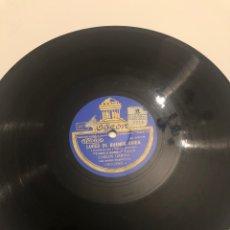 Gramófonos y gramolas: DISCO GRAMÓFONO GRAMÓLA CARLOS GARDEL LUCES DE BUENOS AIRES/COMO ABRAZADO A UN RENCOR. USMO. Lote 224769422
