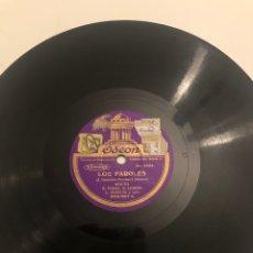 Gramófonos y gramolas: DISCO GRAMÓFONO GRAMÓLA LOS FAROLES CHOTIS HIMNO. MÁS PONIENDO USMO. Lote 224772736