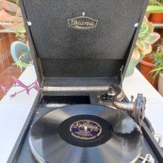 Gramófonos y gramolas: GRAMOLA DIANA THORENS MAQUINARIA SUIZA VER FOTOS Y DESCRIPCIÓN. Lote 226222660
