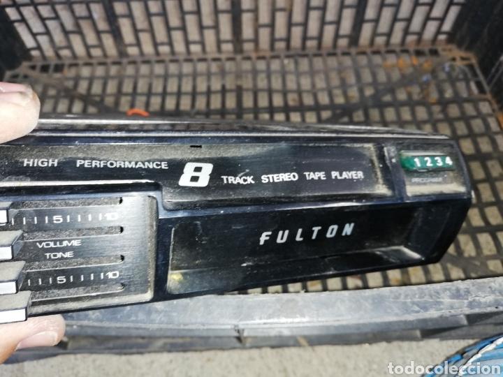 ANTIGUO REPRODUCTOR CASSETTE FULTON DE 8 PISTA.. SIN USO SOLO SUCIEDAD EXTERIOR.. (Radios, Gramófonos, Grabadoras y Otros - Gramófonos y Gramolas)