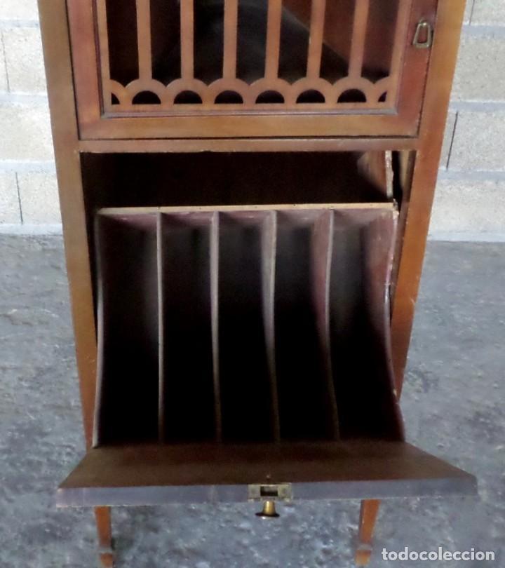 Gramófonos y gramolas: GRAMOLA O GRAMOFONO DE MADERA -- No funciona - Foto 14 - 227266975