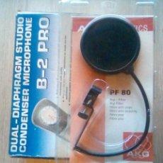 Gramófonos y gramolas: BEHRINGER B-2 PRO DUAL-DIAPHRAGM STUDIO MICROPHONE + POP FILTER PF 80. Lote 229552755