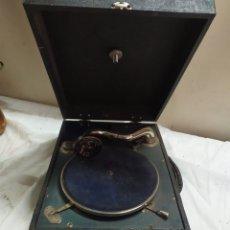 Gramófonos y gramolas: ANTIGUA GRAMOLA DE MANIVELA SIGLO XIX FUNCIONA. Lote 254856690