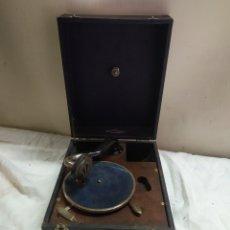Gramófonos y gramolas: ANTIGUA GRAMOLA DISCO PEQUEÑO DE MANIVELA SIGLO XIX FUNCIONA. Lote 254856665