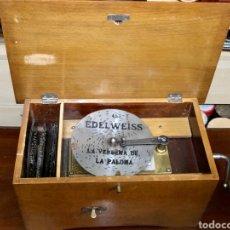 Gramófonos y gramolas: CAJA DE MÚSICA EDELWEISS PRINCIPIOS SIGLO XX. Lote 233474625