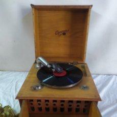 Grammofoni e gramolas: IMPRESIONANTE GRAMÓFONO DE MANIVELA SIGLO XIX. Lote 235051760