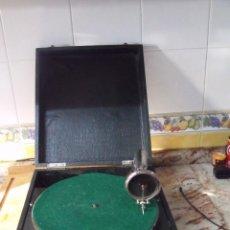 Gramófonos y gramolas: ¡¡ GRAN OFERTA!!!!ANTIGUO GRAMÓFONO DE MALETA PATHE MODELO DIAMOND AÑO 1920-30- FUNCIONA. Lote 235079545