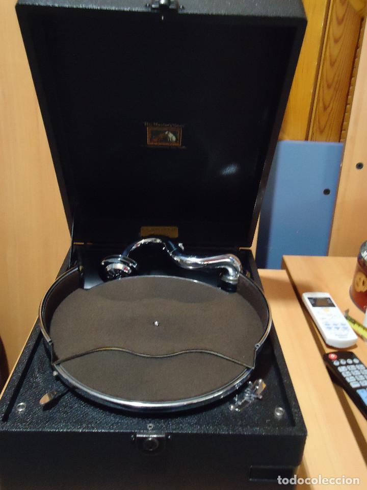 Gramófonos y gramolas: MAGNIFICO E IMPECABLE GRAMOFONO VOZ DE SU AMO - Foto 4 - 236894485