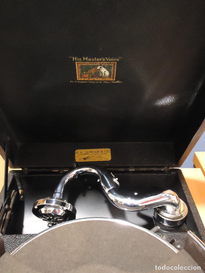 Gramófonos y gramolas: MAGNIFICO E IMPECABLE GRAMOFONO VOZ DE SU AMO - Foto 5 - 236894485