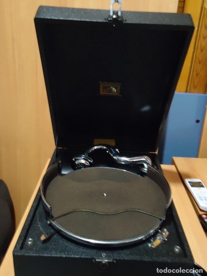 Gramófonos y gramolas: MAGNIFICO E IMPECABLE GRAMOFONO VOZ DE SU AMO - Foto 9 - 236894485