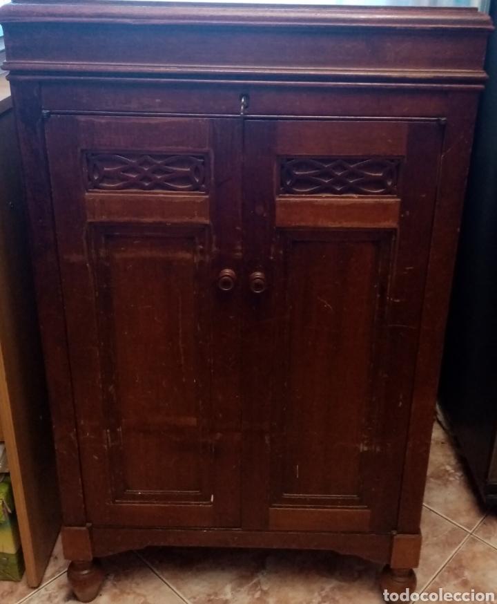 Gramófonos y gramolas: Gramola en mueble: la voz de su amo: --mando vídeo para ver que está en funcionamiento-- - Foto 13 - 240199825