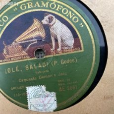 Gramófonos y gramolas: 10 DISCOS DE PIZARRA DISTINTOS ESTILOS. Lote 240890855
