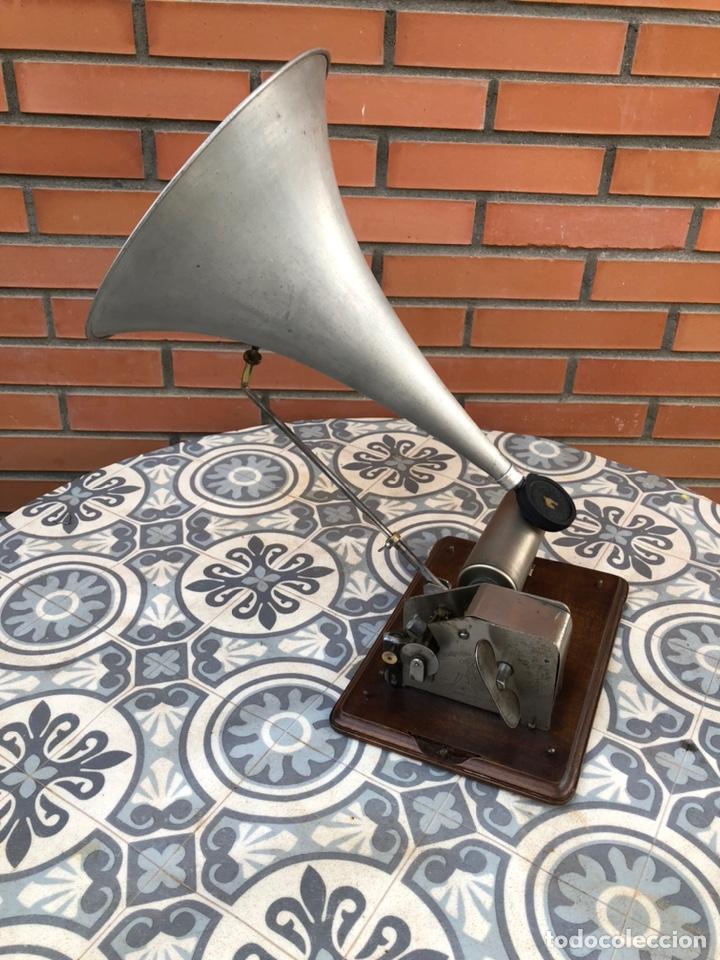 Gramófonos y gramolas: Fonografo gramófono gramóla FUNCIONANDO PHONOGRAPHE GRAMOPHONE USMO - Foto 3 - 244723170