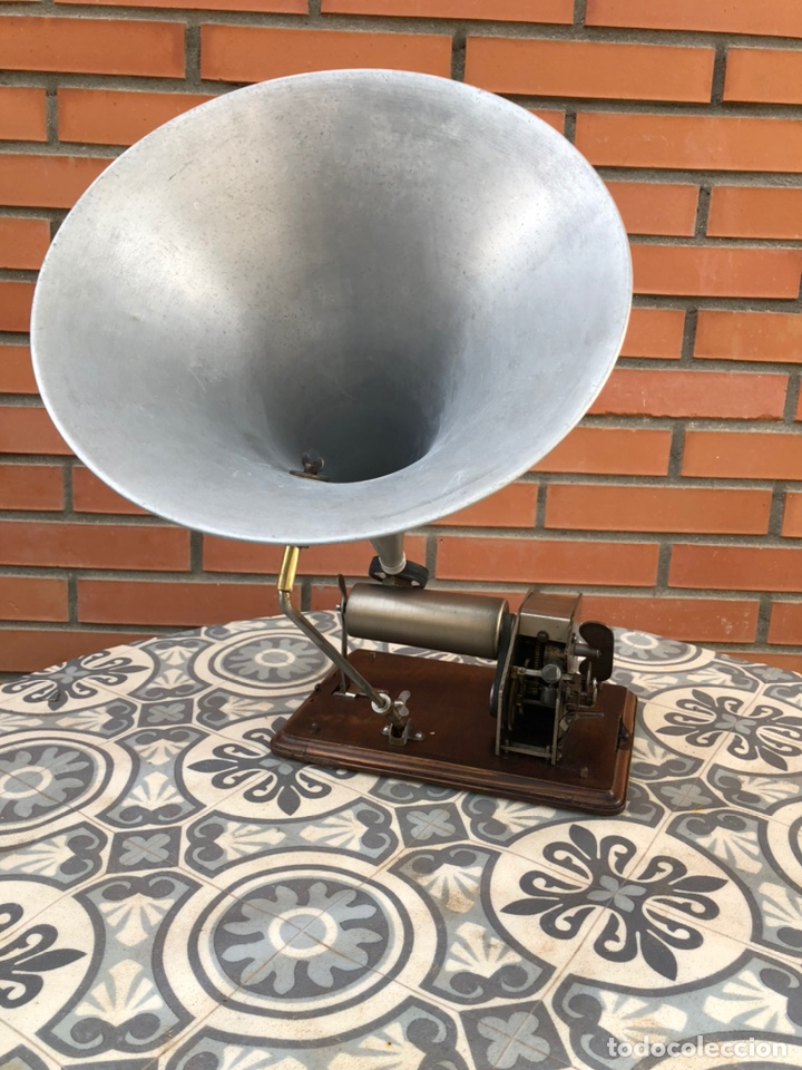 Gramófonos y gramolas: Fonografo gramófono gramóla FUNCIONANDO PHONOGRAPHE GRAMOPHONE USMO - Foto 7 - 244723170